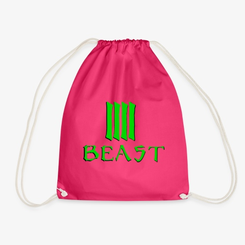 Beast Green - Drawstring Bag