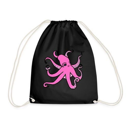 octopus pink - Turnbeutel