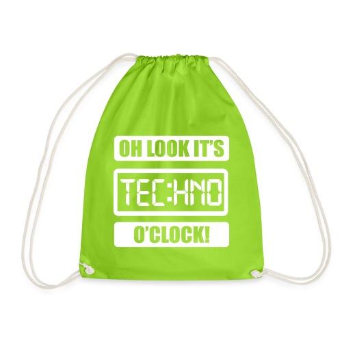 Rave Tshirt Technoclock - Turnbeutel