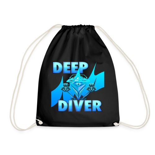 Deep Diver, Ocean Diamond. - Drawstring Bag