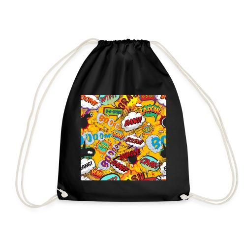 Comic Book Pop Art Cool Fun Shout Outs Graphic - Drawstring Bag
