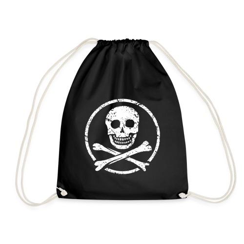 Skull & Crossbones - Vintage Pirate Flag - Drawstring Bag