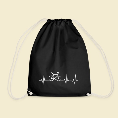 Kunstrad | Artistic Cycling | Heart Monitor White - Turnbeutel