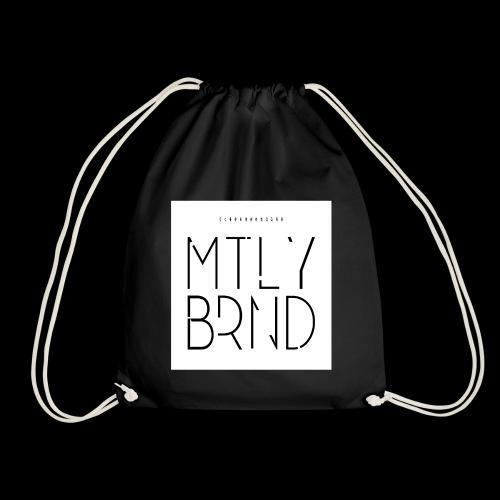 white logo transparent - Drawstring Bag