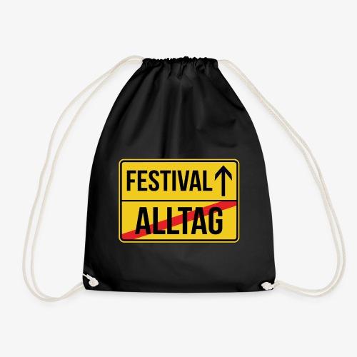 Festival Ortsschild - Alltag verlassen - Turnbeutel