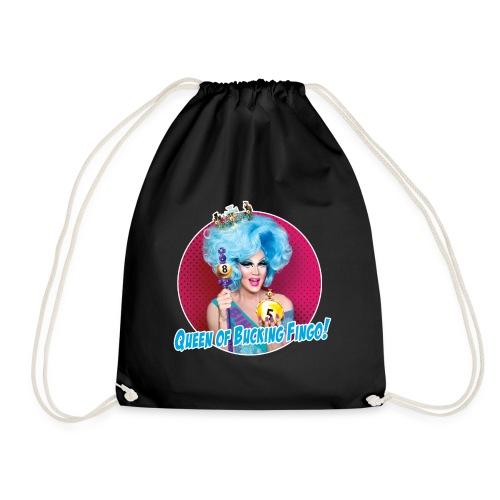 Queen of Bucking Fingo - Drawstring Bag