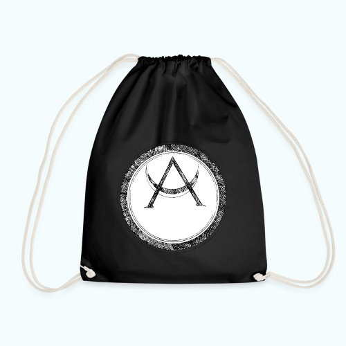 Mystic motif with sun and circle geometric - Drawstring Bag