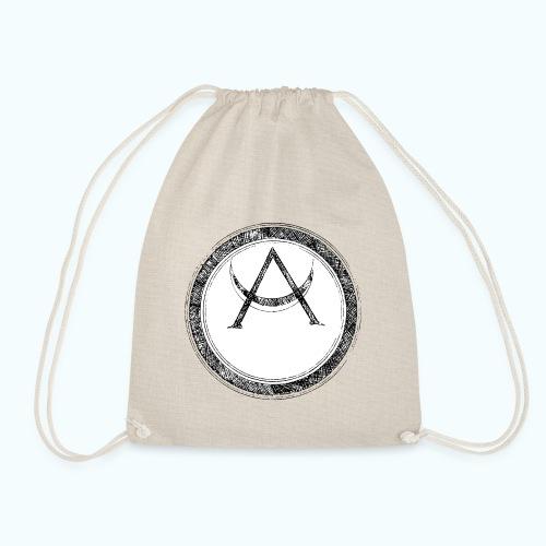 Mystic motif with sun and circle geometric - Drawstring Bag