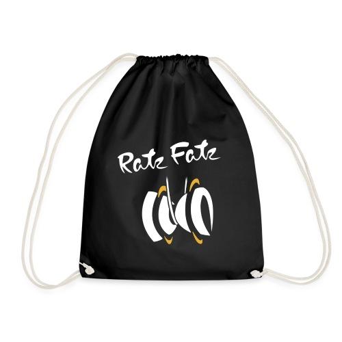 Weißes RatzFatz Logo - Turnbeutel