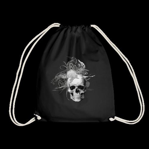 50 shades of lace grey skull white back - Gymnastikpåse