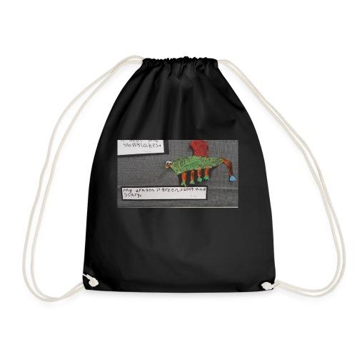 Green long and scary - Drawstring Bag