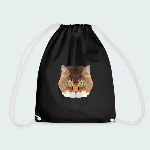 Polygon Cat - Drawstring Bag