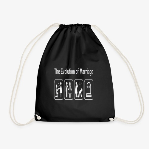 EVOLUTION OF MARRIAGE WEDDING T SHIRT - Drawstring Bag