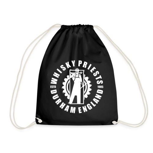 IRON MAN LOGO WHITE TRANS - Drawstring Bag