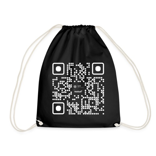 QR - Maidsafe.net White - Drawstring Bag