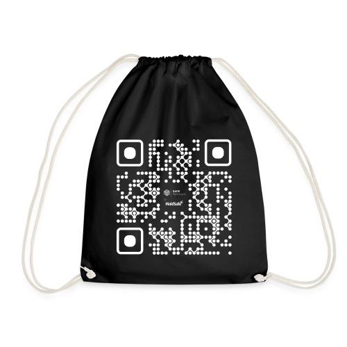 QR - Maidsafe.net White - Drawstring Bag