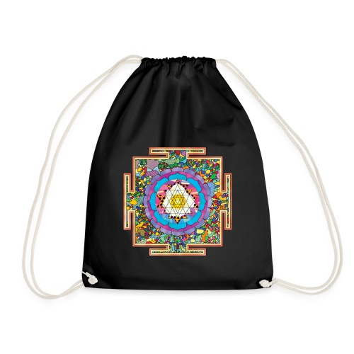 buddhist mandala - Drawstring Bag