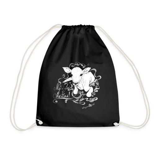 My Live Matters go vgan - Drawstring Bag