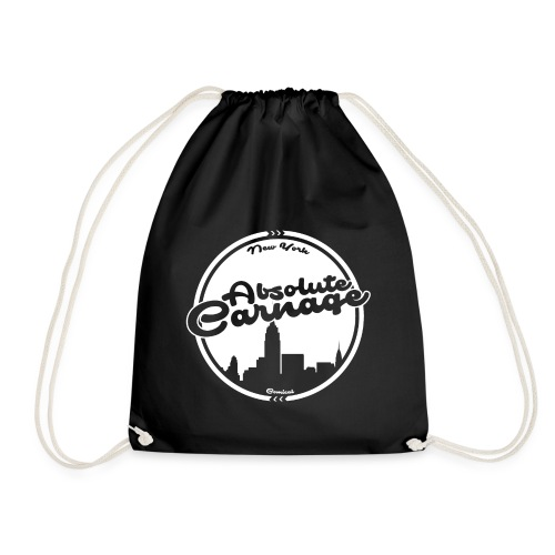 Absolute Carnage - White - Drawstring Bag