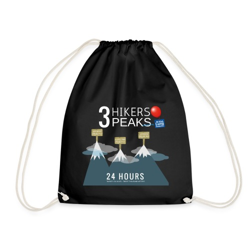 3 Hikers 3 Peaks - Drawstring Bag