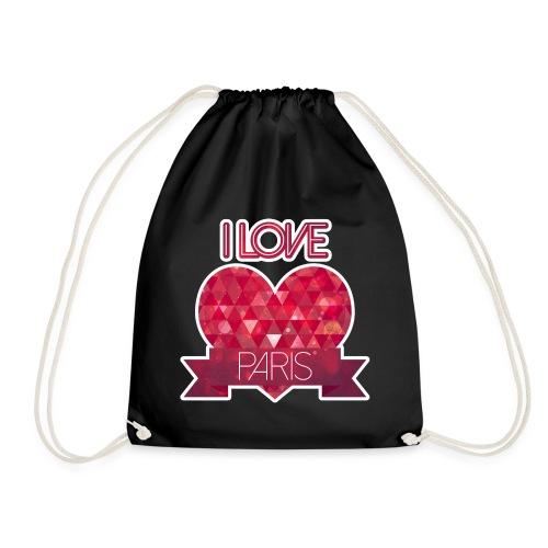 I LOVE PARIS - Drawstring Bag