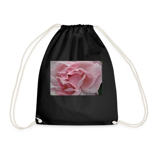 Water Droplet Rose - Drawstring Bag