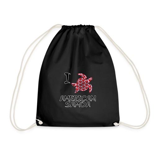 I Love American Samoa - Drawstring Bag
