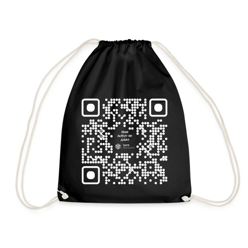 QR The New Internet Should not Be Blockchain Based W - Drawstring Bag