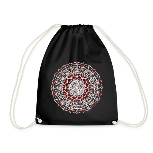 mandala, for black .Made in Italy lysergic think - Sacca sportiva
