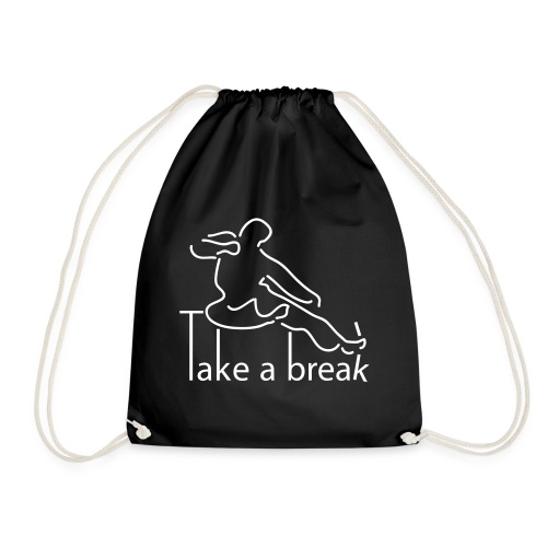Take a break martial artist - Drawstring Bag
