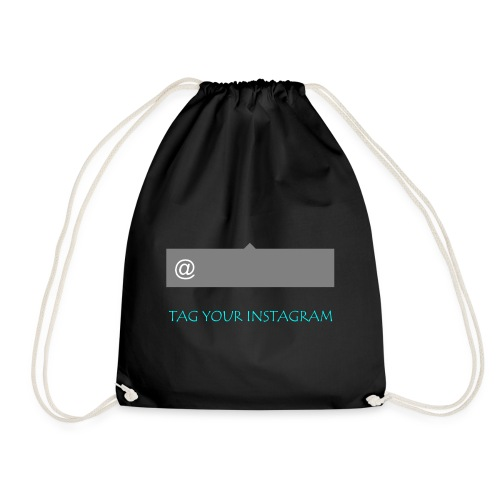 Tag your instagram - Drawstring Bag