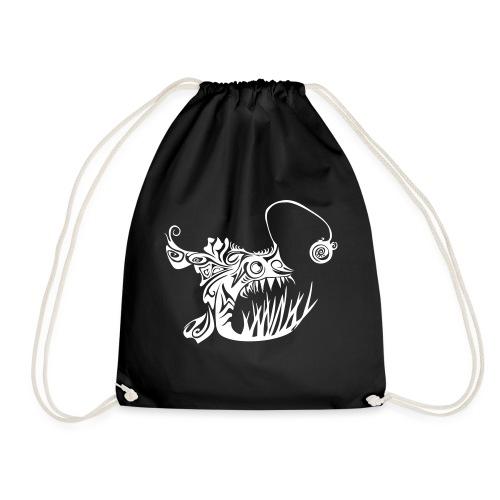 Cranky anglerfish - Drawstring Bag