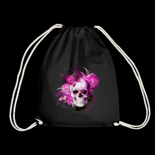 Pink fantasy skull - Gymnastikpåse