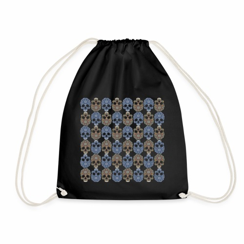 skull repeat - Drawstring Bag