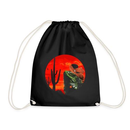 Wild Iguana - Drawstring Bag