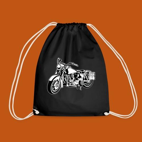 Chopper Motorrad 10_schwarz weiß - Turnbeutel
