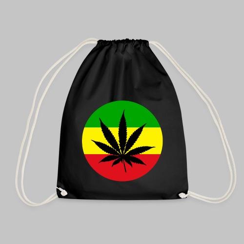 Reggae Rasta Cannabis Blatt grü gelbrot - Turnbeutel
