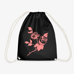 roses home made - Drawstring Bag
