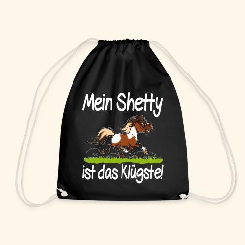 Mein Shetty das Klugste (Text weiss - Sac de sport léger