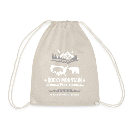 Rocky Mountain Nationalpark Berg Bison Grizzly Bär - Drawstring Bag