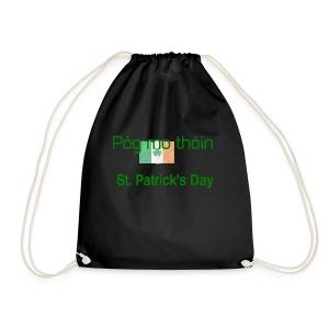 St Patricks day Pogmo Thoin - Kiss My Arse - Drawstring Bag