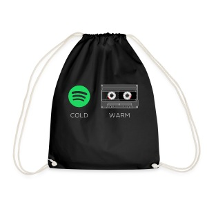 Spotify cold - warm cassette - Drawstring Bag