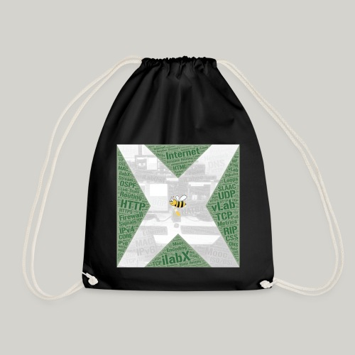 iLabX - The Virtual Internet Laboratory - Drawstring Bag