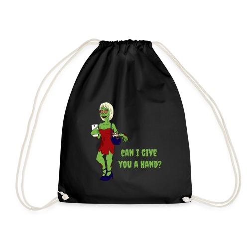 give a hand - Drawstring Bag