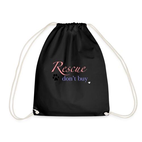 Rescue don't buy - Drawstring Bag