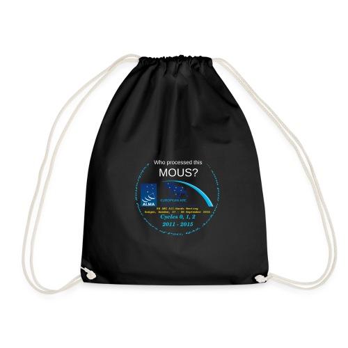 arcshirt stars blue moose - Drawstring Bag