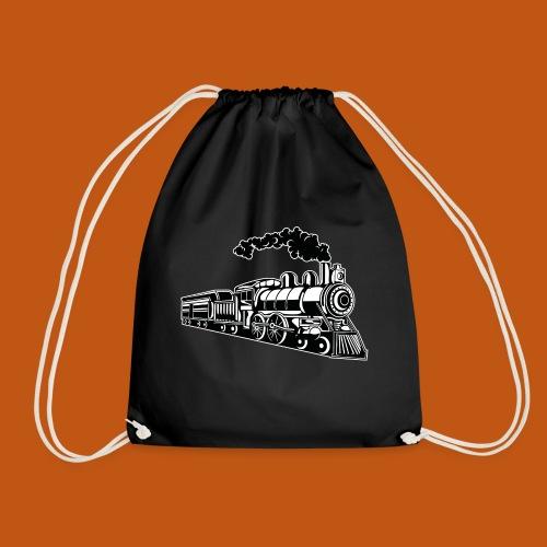 Lokomotive / Locomotive 02_schwarz weiß - Turnbeutel