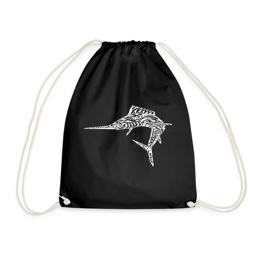 The White Marlin - Drawstring Bag