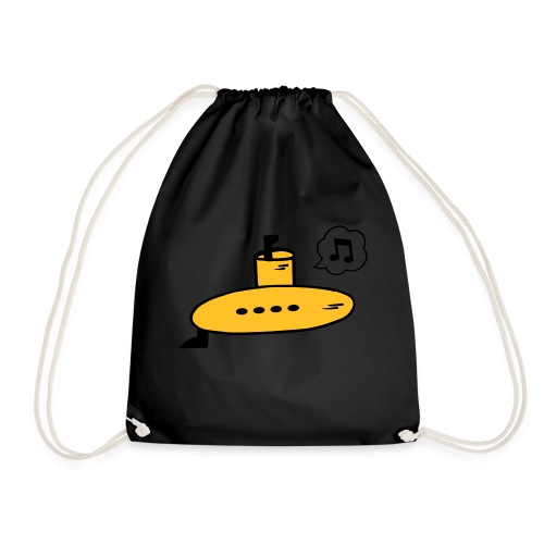 Singing Yellow Submarine - Drawstring Bag