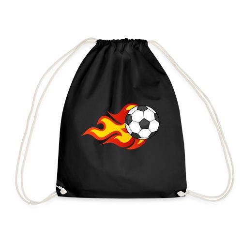 Flaming Football - Drawstring Bag